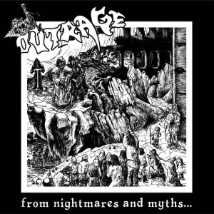 OUTRAGE From Nightmares And Myths... LP