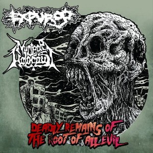 EXPURGO / NUCLEAR HOLOCAUST Deadly Remains Of The Root Of All Evil LP