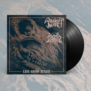 STRAIGHT HATE / NUCLEAR HOLOCAUST East Grind Attack EP (Black)